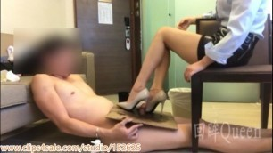 Chinese Extreme Heels Urethra Insertion CBT and Cock Box Trample Shoejob插马眼