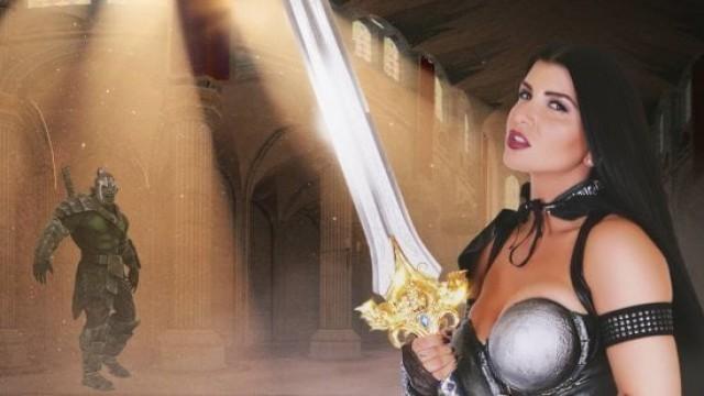 Romi Rain Plays a Hardcore Whorecraft Knight
